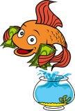 Вектор - счастливая рыбка Иллюстрация вектора