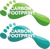 Вектор следа ноги углерода Стоковое Изображение