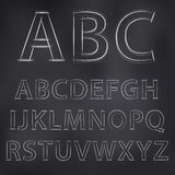 Вектор сделал эскиз к алфавиту Стоковые Изображения RF