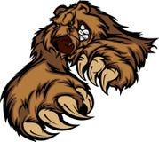 вектор талисмана логоса гризли медведя Стоковое Изображение
