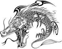 Вектор татуировки дракона Стоковая Фотография RF