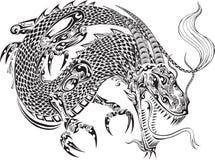 Вектор татуировки дракона бесплатная иллюстрация