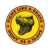 Вектор талисмана динозавра черная белизна Стоковая Фотография RF