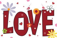 вектор текста влюбленности предпосылки Стоковая Фотография RF