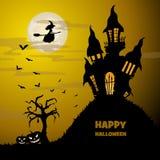 вектор текста места halloween знамени ваш стоковая фотография rf