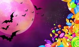 вектор текста места halloween знамени ваш Стоковое Изображение RF