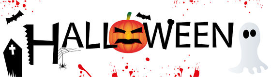 вектор текста места halloween знамени ваш стоковое изображение