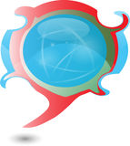 вектор текста пузыря Бесплатная Иллюстрация