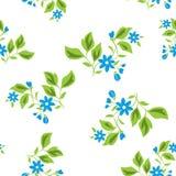 вектор текстуры голубых флористических цветков безшовный бесплатная иллюстрация