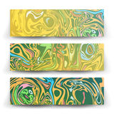 Вектор текстуры ремесла жидкостный Установите иллюстрацию акварели текстуры чернил нарисованную рукой мраморизуя Абстрактная пред Стоковые Изображения