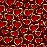 вектор текстуры сердец безшовный Стоковое Фото