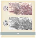 Вектор текстуры фольги Стоковые Фотографии RF