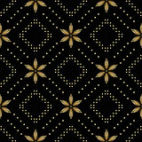 вектор текстуры черных косоугольников безшовный Стоковое Фото