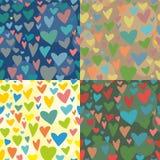 вектор текстуры 4 сердец безшовный Стоковая Фотография RF
