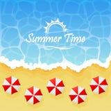 вектор темы лета сетки иллюстрации пляжа предпосылки тропический Стоковое фото RF
