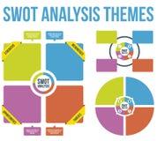 Вектор тем анализа SWOT Стоковые Изображения