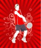 вектор тенниса людей Стоковые Фотографии RF