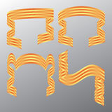 вектор тесемки цвета декоративный Стоковая Фотография RF