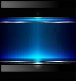 вектор технологии знамени предпосылки металлический Стоковое фото RF
