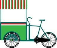Вектор тележки еды велосипеда Стоковая Фотография