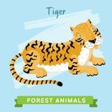 Вектор тигра, животные леса Стоковое Изображение RF