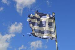 вектор типа Греции имеющегося флага стеклянный стоковое фото rf