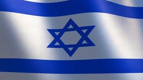 вектор типа Израиля имеющегося флага стеклянный Развевая флаг Израиля иллюстрация 3d Стоковое Фото