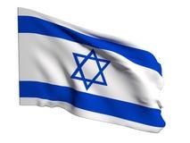 вектор типа Израиля имеющегося флага стеклянный Стоковые Изображения