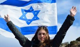 вектор типа Израиля имеющегося флага стеклянный Стоковая Фотография