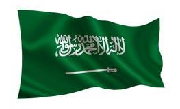 вектор типа имеющегося флага Аравии стеклянный saudi Серия флагов ` мира ` Страна - флаг Саудовской Аравии Стоковая Фотография RF
