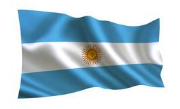 вектор типа имеющегося флага Аргентины стеклянный Серия флагов ` мира ` Страна - флаг Аргентины Стоковая Фотография