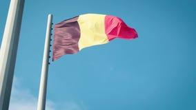 вектор типа имеющегося флага Бельгии стеклянный флаг Бельгии видеоматериал