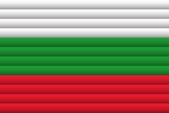 вектор типа имеющегося флага Болгарии стеклянный также вектор иллюстрации притяжки corel бесплатная иллюстрация