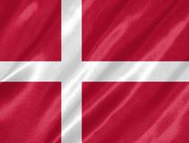 вектор типа имеющегося флага Дании стеклянный иллюстрация вектора