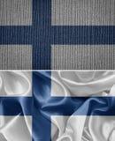 вектор типа имеющегося флага Финляндии стеклянный Стоковые Изображения RF