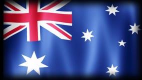 вектор типа имеющегося флага Австралии стеклянный сток-видео