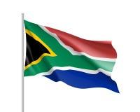 вектор типа имеющегося флага Африки стеклянный южный Стоковое Изображение RF