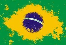 вектор типа имеющегося флага Бразилии стеклянный Стоковые Изображения