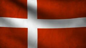 вектор типа имеющегося флага Дании стеклянный