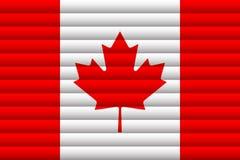 вектор типа имеющегося флага Канады стеклянный также вектор иллюстрации притяжки corel иллюстрация вектора