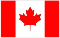 вектор типа имеющегося флага Канады стеклянный Стоковое фото RF