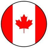 вектор типа имеющегося флага Канады стеклянный Стоковые Изображения