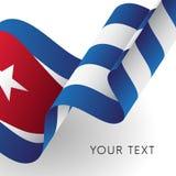 вектор типа имеющегося флага Кубы стеклянный вектор иллюстрация штока
