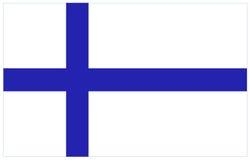вектор типа имеющегося флага Финляндии стеклянный Стоковое Изображение RF