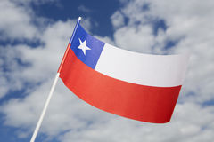 вектор типа имеющегося флага Чили стеклянный Стоковая Фотография