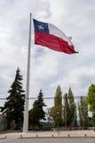 вектор типа имеющегося флага Чили стеклянный Стоковое фото RF