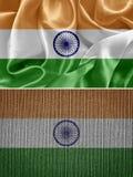 вектор типа Индии имеющегося флага стеклянный Стоковое Изображение