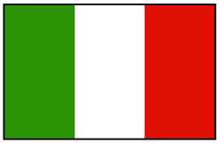 вектор типа Италии имеющегося флага стеклянный Стоковое Фото
