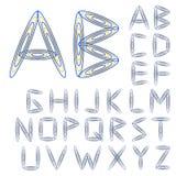 вектор типа купели конструкции алфавита abc цветастый Стоковые Фото