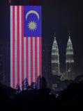 вектор типа Малайзии имеющегося флага стеклянный Стоковое Изображение